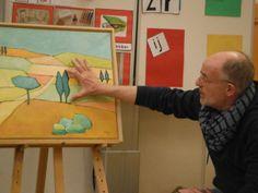 een kunstenaar in de klas uitnodigen.