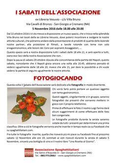 05/11 - ex-Libreria Vesuvio c/o Villa Bruno - San Giorgio a Cremano (NA) - I Sabati dell'Associazione - Fotogiocando
