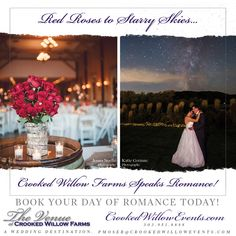 Red Roses to Starry Skies... The Venue at Crooked Willow Farms Speaks Romance!! #CrookedWillowFarms #ColoradoWeddings #LarkspurWeddings #Bride #Groom #COWeddings #TheVenueAtCrookedWillowFarms #Barn #RedBarn #BarnWeddings #CrookedWillowEvents #Larkspur