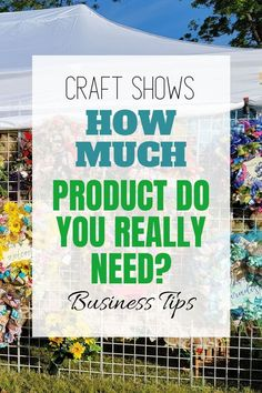 Craft shows have a learning curve. You don't want to take too many products, but you also don't want to be stuck with a bare stand that fails to show off your wreaths. So what is the sweet spot? Learn these great business tips from the pros at Southern Charm Wreaths! How To Make Wreaths, How To Make Bows, Vendor Events, Artificial Flower Arrangements, Diy Home Decor Projects, Decor Ideas, Do You Really, Diy Wreath, Business Tips