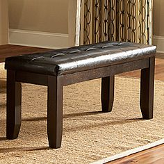 @Overstock - Drawing from the basic form of the Arts & Crafts movement and adding modern lines, casual dining will never look the same with the addition of the Callington bench. Constructed of rubberwood, a rich espresso finish highlights the walnut veneer.http://www.overstock.com/Home-Garden/Callington-Dark-Brown-48-inch-Bench/6626663/product.html?CID=214117 $144.99