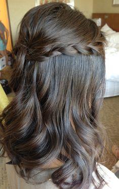 Wedding updo, wedding hair, bridal hair, braids, half up half down, half updo, asian bridal hair