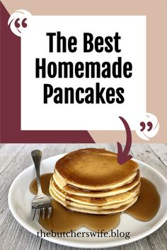 The BEST Homemade Pancakes- no buttermilk pancake recipe! Best Homemade Pancakes, Look And Cook, Thing 1, Fast Easy Meals, Buttermilk Pancakes, Best Breakfast Recipes, Some Recipe, Morning Food, Kid