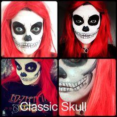 Skull make up face paint for Halloween