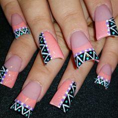 Lil Zig Zag by Oli123 via @nailartgallery #nailartgallery #nailart #nails #acrylic