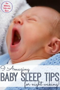 Love it! GREAT tips to ease your baby back to sleep after a night waking.