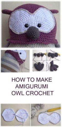 Owl Crochet Tutorial Amigurumi #amigurumi #amigurumipattern #crochettoy #crocheting #amigurumitutorial