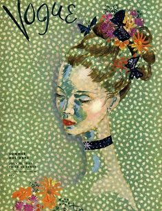 Leaves you wanting more: Old covers of Vogue with flowery hats..spring is here