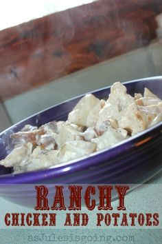 Ranchy Chicken and Potatoes Recipe | 3 ingrediante + 1 hour= Simple meal! Can also be convereted into a crockpot meal