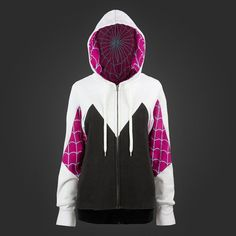 A Spider-Gwen hoodie. | 25 Geeky Gifts Every Marvel Fan Needs. I NEED ALL OF THESE.