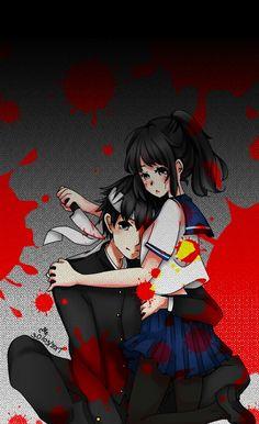 You can kill me anytime if you want. Yandere Simulator Fan Art, Yandere Simulator Characters, Ayano X Budo, Fanart, Yandere Anime, Hunter Anime, Anime Love, Anime Couples, Sims