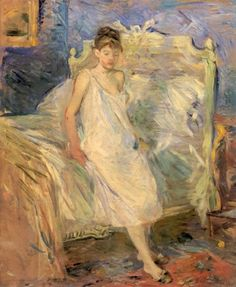 Berthe Morisot, Getting Out of Bed, 1886