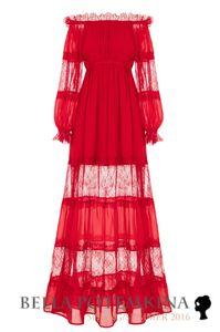 """Платье """"Милена"""" красное, макси"""