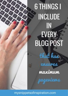 These 6 things that I do for every blog post really does make a huge difference in page views, bounce rate, and traffic!
