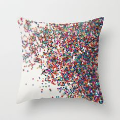 Fun II (NOT REAL GLITTER - photo) Throw Pillow by Galaxy Eyes - $20.00