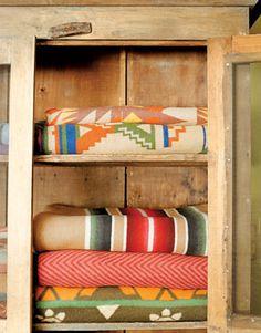 vintage blankets to snuggle under when the night gets cooler  #designsponge #dssummerparty
