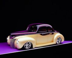 1940 Ford Coupe: Maintenance/restoration of old/vintage vehicles: the material… Ford Classic Cars, Classic Trucks, Cars Vintage, Antique Cars, Hot Rods, Classic Hot Rod, Us Cars, Ford Motor Company, Amazing Cars