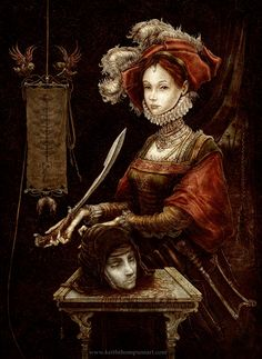 Loving this modern rendition of Judith and Holfernes