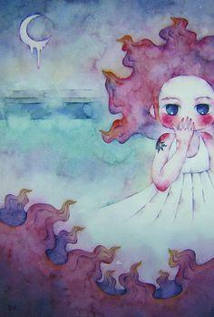 Trance by Juri Ueda #watercolor  #illustration