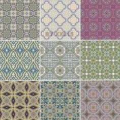 beige hued Islamic art patterns.