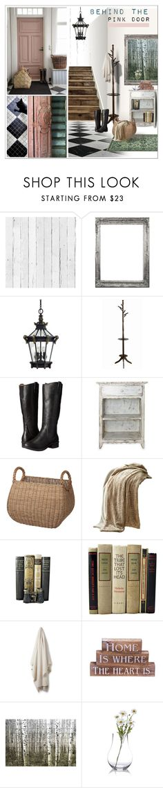 """""""Behind the Pink Door"""" by szaboesz ❤ liked on Polyvore featuring interior, interiors, interior design, home, home decor, interior decorating, NLXL, Minka-Lavery, Monarch and Bogs"""
