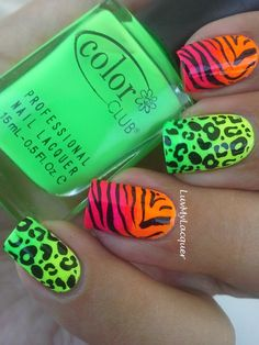 LuvMyLacquer: Wild Thing! (neon gradient + animal print)