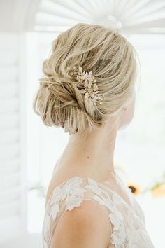 50 Elegant Wedding Hairstyles and Updos from Xenia_stylist ~ Chignon Wedding, Elegant Wedding Hair, Wedding Hair And Makeup, Chic Wedding, Wedding Day, Boho Bridal Hair, Bridal Comb, Unique Wedding Venues, Flowers