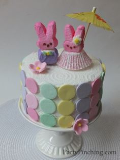 Party Planning - Party Ideas - Cute Food - Holiday Ideas -Tablescapes - Special Occasions And Events - Party Pinching - Pretty Peep Cake