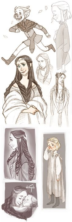 Elves sketches by onone-chan.deviantart.com on @DeviantArt