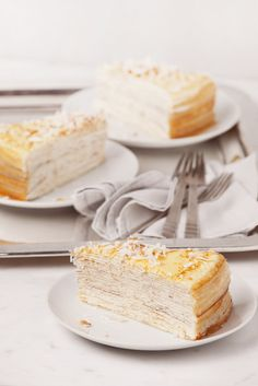 Coconut Mille Crepes | Lady M Confections Out-of-NYC Shipping--why yes, yes i will take one of these as well.