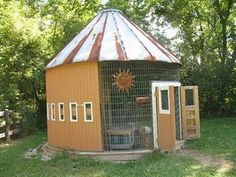 Corn crib chicken coop
