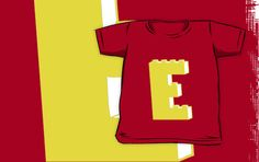 """""""THE LETTER E by Customize My Minifig"""" Kids Clothes by ChilleeW 