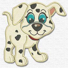 Adorable Applique-dalmatian puppy