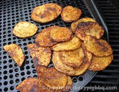 Golden Brown Dizzy Pig Potatoe Slices Recipe. Dizzy Pig BBQ Recipes. Fantastic recipes for the grill, smoker or in the kitchen.