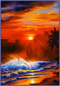 Seascapes from Hawaii Christian Ries Lassen (Christian Riese Lassen) (396 works) »Paintings, artists, photographers on Nevsepic