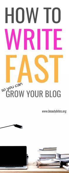 These tips have helped me create great content fast! If you want to grow your traffic and make money blogging you need these blogging tips on how to write fast!