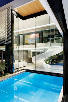 Mansion With Perfect Interiors by SAOTA | #modern #architecture #design #house #home #residence #amazing #beautiful #new #saota #swimmingpool #pool #glass #facade