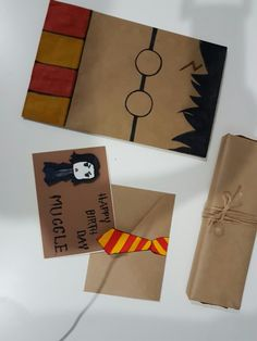 Harry potter Paper bag. Snape crad. Happy birthday muggle. HP Tie.