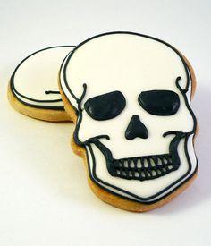 Decorated Cookies Halloween Skull by katieduran on Etsy, $28.00