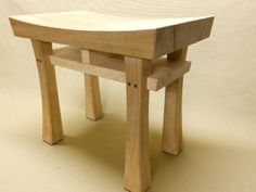 """Asian Style Stool Bench Seat """"Heaven"""" In Maple, Cherry, or Walnut. $145.00, via Etsy."""