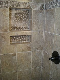 shower tile designs glass mosaics | shower-mosaic-border