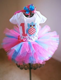 Hey, I found this really awesome Etsy listing at https://www.etsy.com/listing/183385778/adorable-owl-birthday-outfit-pink-and