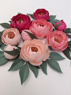 Ball Peony Paper Flower Tutorial SVG, PDF, PNG Digital Files for Cricut & Silhouette   Diy Paper Craft