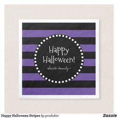 Happy Halloween Stripes Napkin