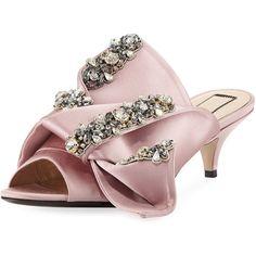 f67ecc3f19f8 21 Jeweled Satin Low-Heel Mule Sandal (3