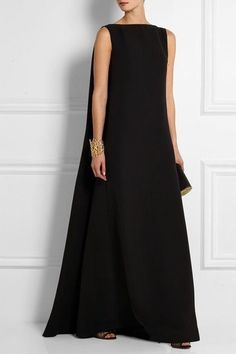 Black silk-cady Concealed hook and zip fastening at side silk; Beautiful Gowns, Beautiful Outfits, Dress Skirt, Dress Up, Vogue, Modern Fashion, Fashion Design, Couture Fashion, Pretty Dresses