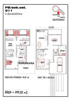 Casa 3 quartos e terraço