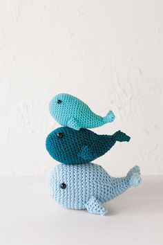 Crochet whales in 3 sizes (Knitpicks pattern) Crochet Whale, Crochet Fish, Cute Crochet, Crochet Baby, Knit Crochet, Crochet Patterns Amigurumi, Crochet Dolls, Knitting Patterns, Whale Pattern