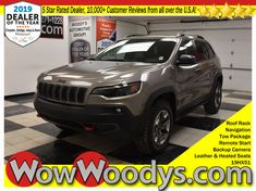 """One Owner! This Jeep Cherokee Trailhawk has a strong 4x4 3.2L V6 engine equipped with top options including Tow Package, Heated Seats, Remote Start, Navigation, 8.4"""" Media Center, Backup Camera, Roof Rack, & Blind Spot Monitoring! #Jeep #JeepCherokee #CarShopping"""