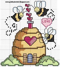 Ponto Cruz da Vanessa: Gráficos de abelhas